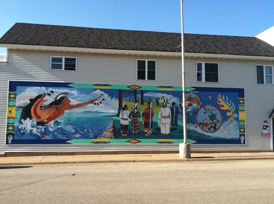 Mural in Wittenberg, WI  Native American