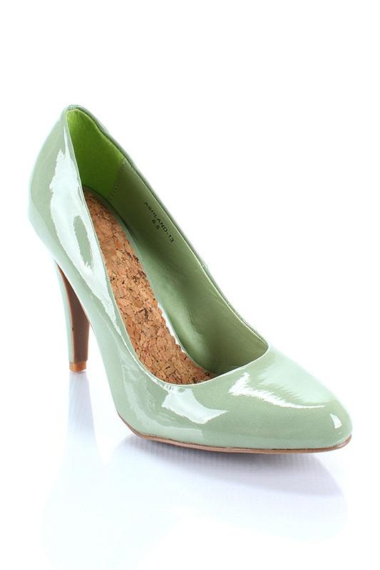 mint green pumps
