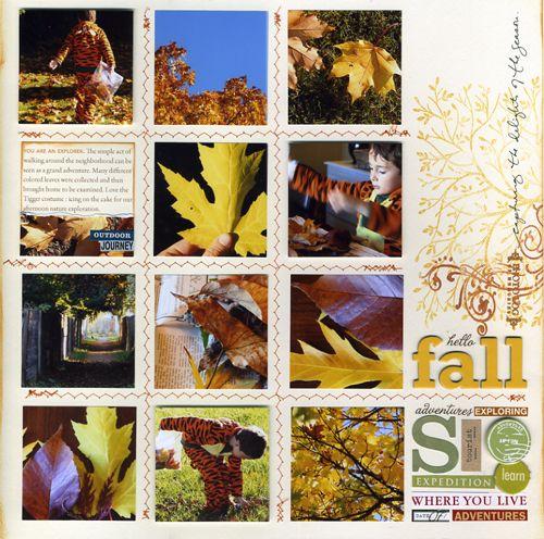 #fall Scrapbook Layouts @Ali Edwards #4expert