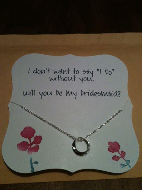 Asking a bridesmaid