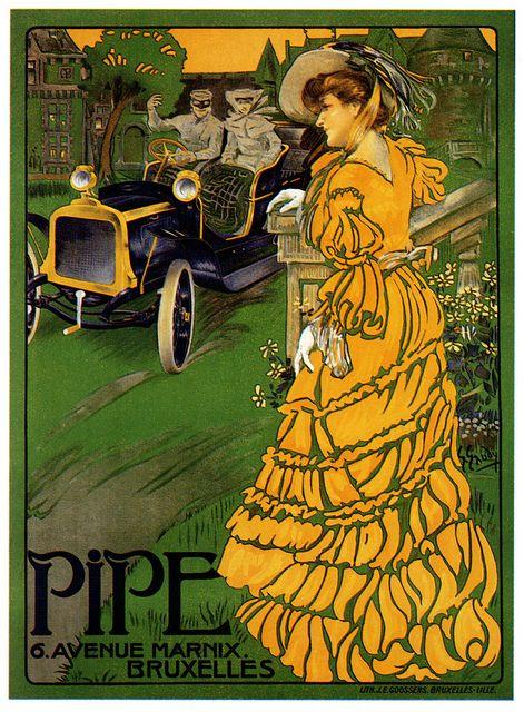Les Automobiles Pipes de Bruxelles. #vintage #Edwardian #cars #ads