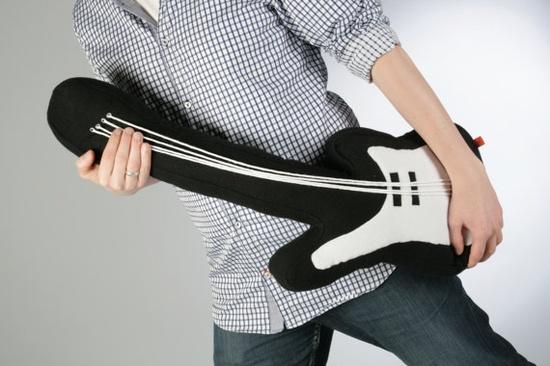 guitar pillow. €34.90, via Etsy.