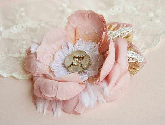 Bridal Hair Flower, Blush Pink Hair Flower, Bridal Hair Accessories, Blush, Pink, Wedding, Hair, Accessories.