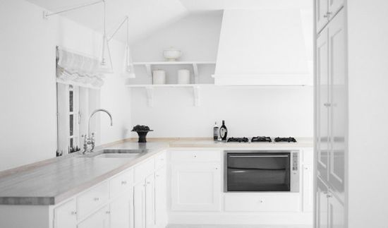 13 Scandinavian Kitchen Interior Design with White Color Scheme from Simonsen and Czechura