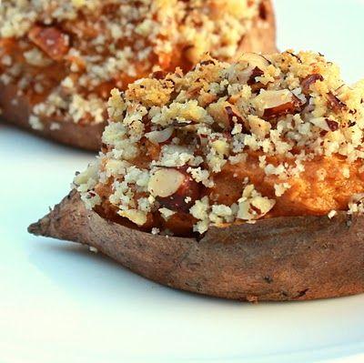 Stuffed twice-baked sweet potatoes
