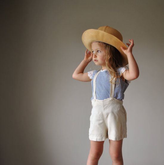 1940s Nude Suspender shorts by salvagehouse,