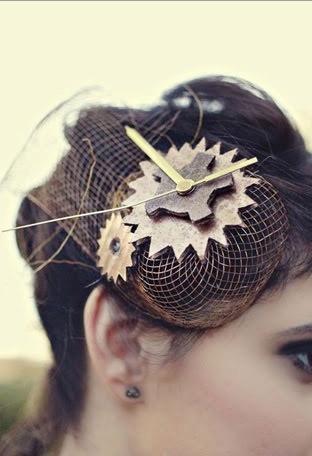 Quirky! Love. Steampunk hair accessories