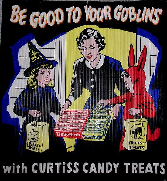 Vintage Halloween Candy Advertisement
