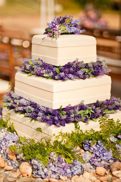 Lavender wedding cake!