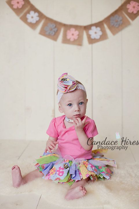 Girl Photo Prop - Baby Girl Nursery Decor - Little Girl Room Decoration - Flower Banner
