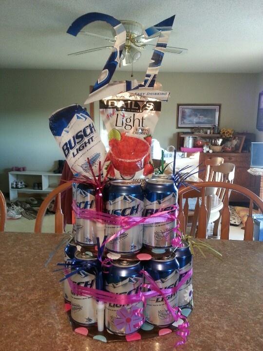21 Birthday Cake Ideas With Beer Decoration 21 birthday