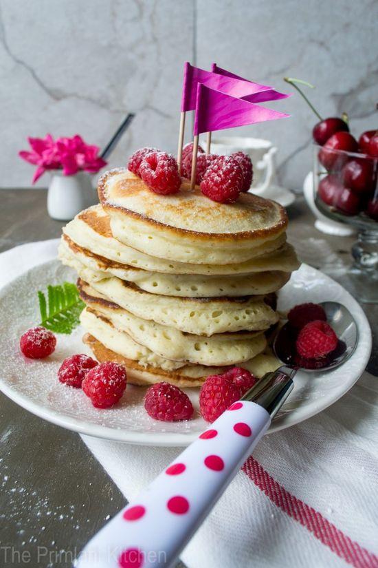Lemon-Ricotta Pancakes with Raspberries
