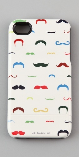 Moustache iPhone case - so fun!