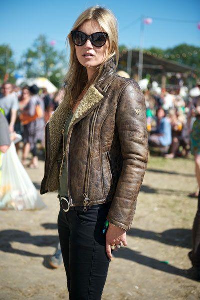 Kate Moss wearing Matchless at Glastonbury 2013