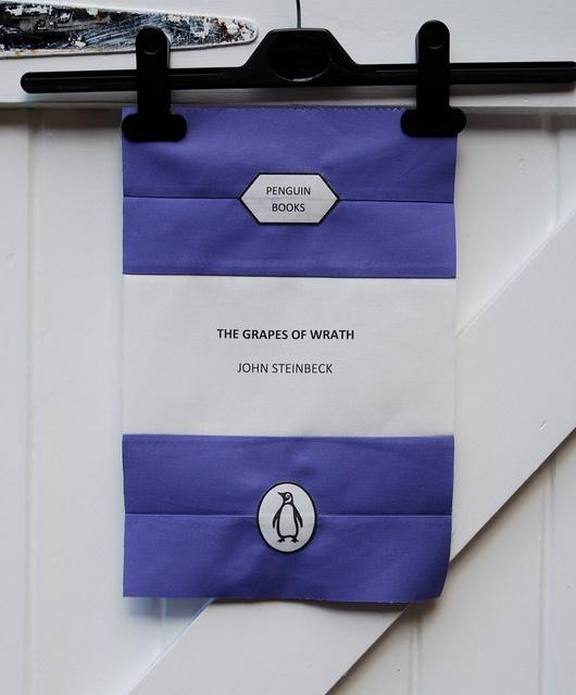 Penguin books quilt
