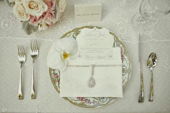 Vintage table setting. Vintage Wedding Ideas