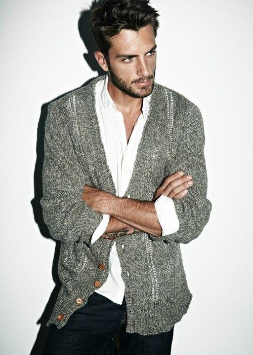 casual grey cardigan