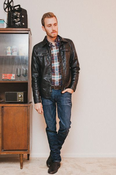A leather jacket makes (almost) every guy seem cool.