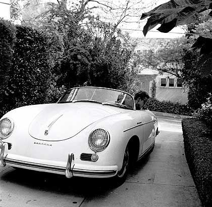 James Dean and his 1955 Porsche 356