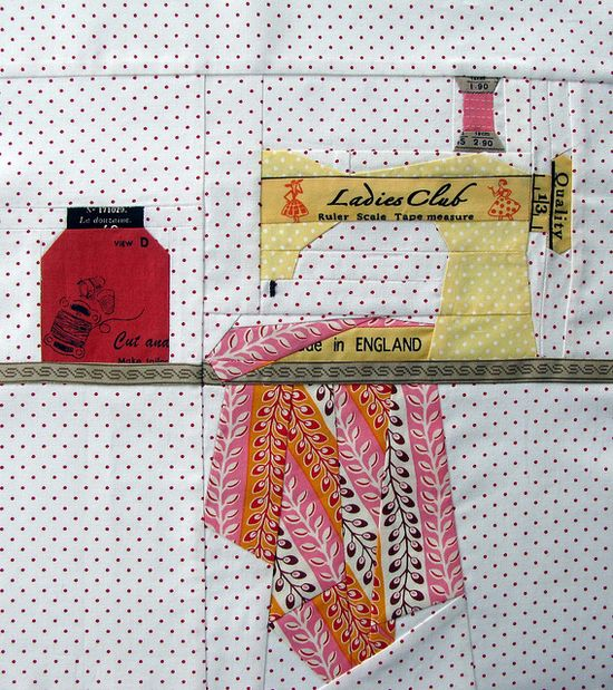 pattern on her blog <   paper-pieced sewing machine