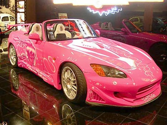 My new pink car!