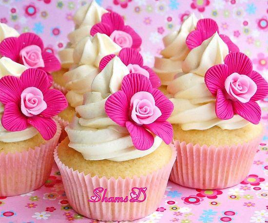 Rose n Flower Cupcakes