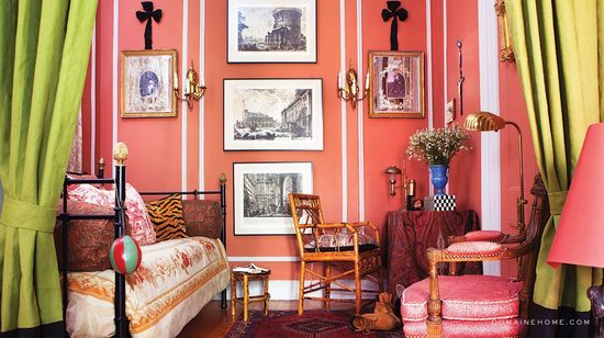 eclectic chic home #interiors #fun #style #art #design