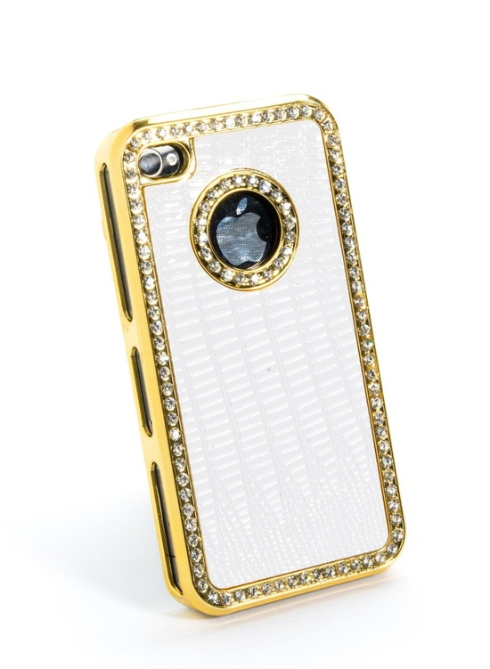 Rhinestone Bling iPhone Case - White @lockerz.com
