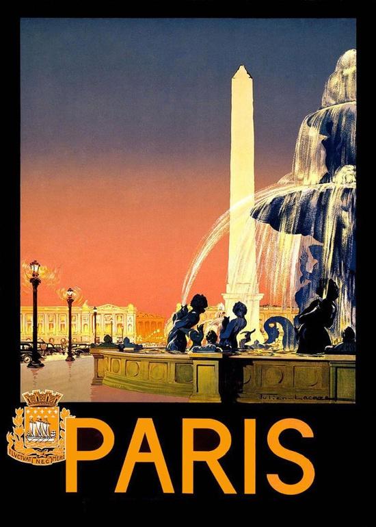 Travel Poster, Paris.