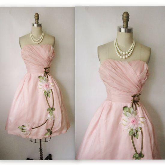 50s Pink Organza Dress