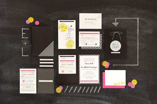 graphic invitation suite