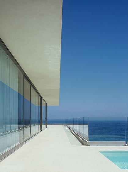 Another view of the minimalist Helena house in Spain by Belgian architect Bruno Erpicum _