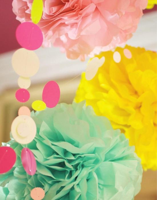 Mint + yellow + pink