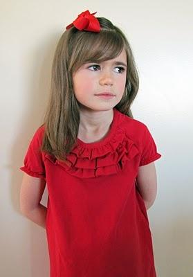 sweet little ruffle dress tutorial