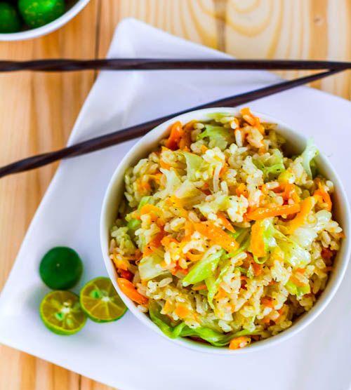 Garlic fried rice..looks yum!  @Pinch of Yum