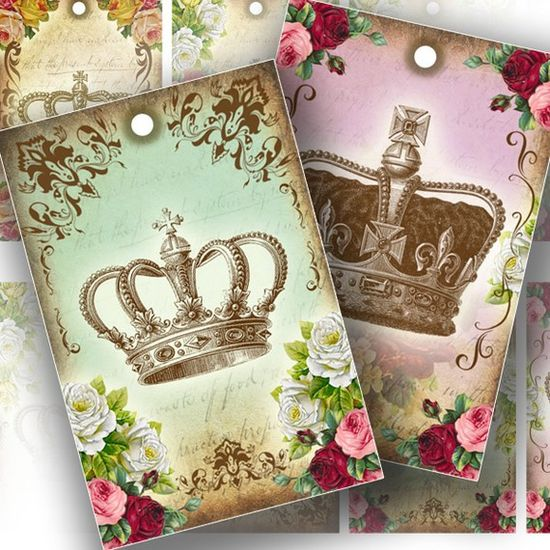 Royal Crowns gift tags