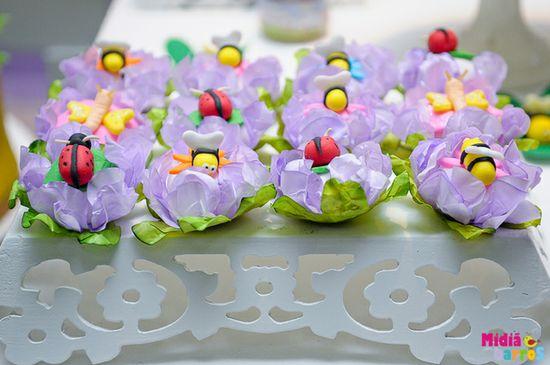 Adorable favors at a Garden party!   See more party ideas at CatchMyParty.com!  #partyideas  #garden