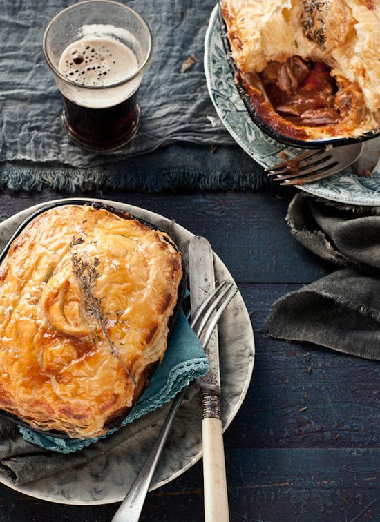 Lamb and Guinness individual pies