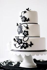 black and white #wedding #cake www.finditforwedd...
