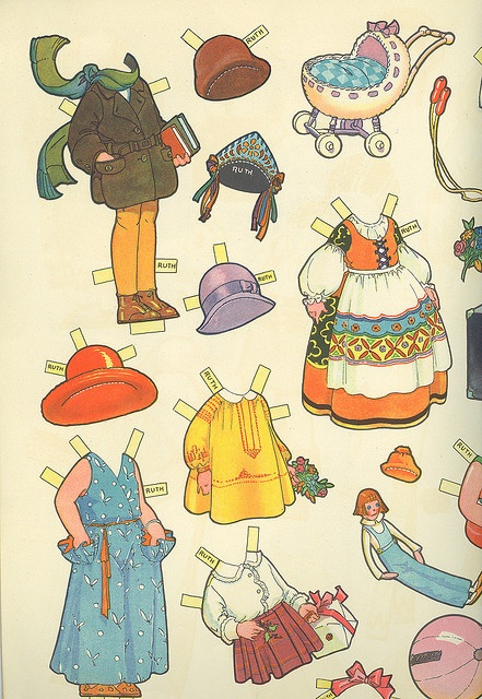 Vintage Paper Doll Costumes 4