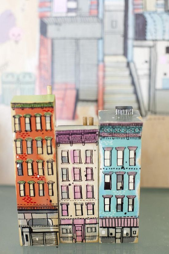 3d drawn buildings