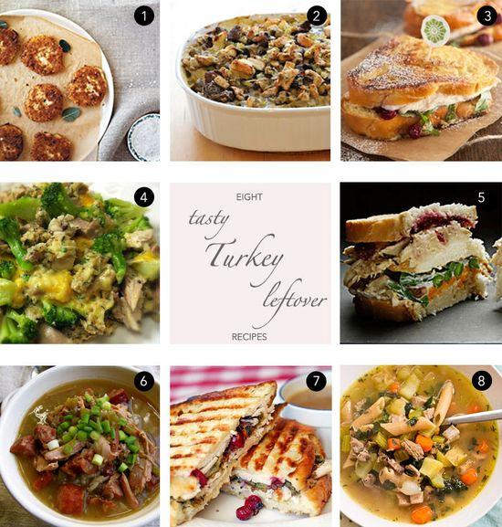 8 Leftover Turkey Recipes