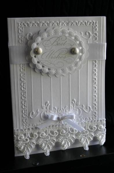 Elegant greetings wedding card