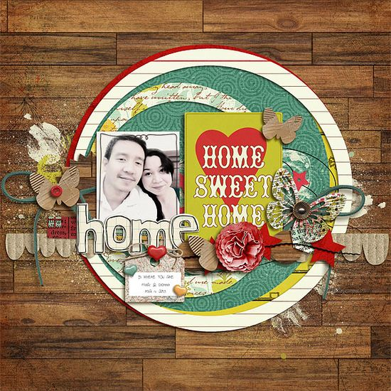 #papercraft #Scrapbook #layout   Home is where you are - Scrapbook.com