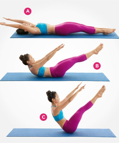 This challenging Pilates move can help sculpt your core! Click for 8 more awesome exercises to flatten your stomach: www.womenshealthm...