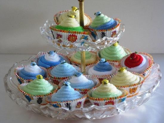 Baby Shower Cupcake Favors. $18.00, via Etsy.