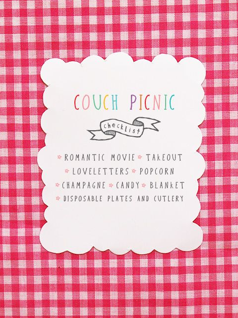 Valentine's Couch Picnic Date!