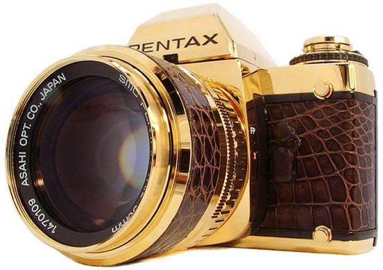 Gold Pentax Camera.