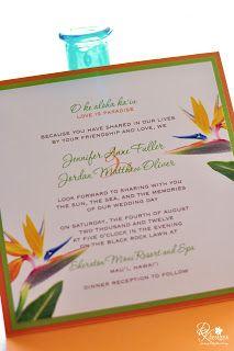 DK Designs: Bird of Paradise Inspired Invitations