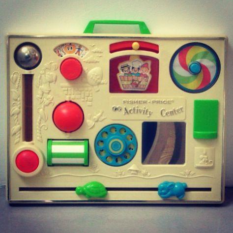 My Cartoon Fisher Price Activity Center Retro 80s Toy